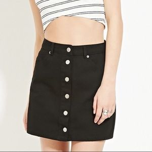 Forever21 Black Denim Skirt